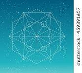 sacred geometry. crystal linear ... | Shutterstock .eps vector #459391657