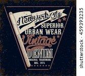 vintage typography emblem ... | Shutterstock .eps vector #459393235