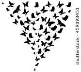 black butterflies on a white.... | Shutterstock .eps vector #459393451