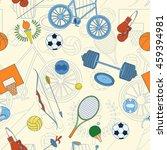 seamless sport rio 2016 pattern ... | Shutterstock .eps vector #459394981