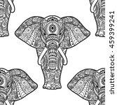 Pattern With Elephant. Frame O...