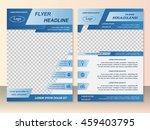 vector flyer template design.... | Shutterstock .eps vector #459403795
