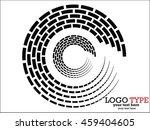 abstract halftone logo design... | Shutterstock .eps vector #459404605