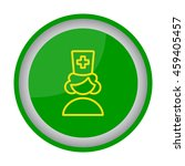 web line icon. female doctor ... | Shutterstock .eps vector #459405457