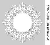 decorative vintage frame.... | Shutterstock .eps vector #459407071