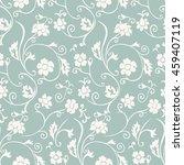 seamless floral wallpaper.... | Shutterstock .eps vector #459407119