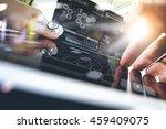 medicine doctor hand working... | Shutterstock . vector #459409075
