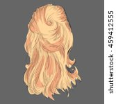 a sketch of a female hairstyle. ... | Shutterstock .eps vector #459412555
