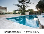 luxury swimming pool view with...   Shutterstock . vector #459414577