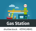 gas station image with car and... | Shutterstock .eps vector #459414841