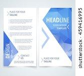 vector modern flyer  poster or... | Shutterstock .eps vector #459416995