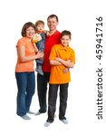 happy family studio full length ... | Shutterstock . vector #45941716