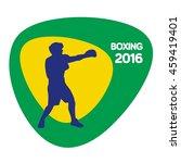 boxing icon  rio icon  vector... | Shutterstock .eps vector #459419401
