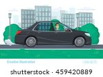 successful businessman man... | Shutterstock .eps vector #459420889