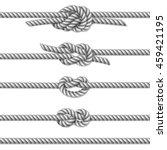 white twisted rope border set ... | Shutterstock . vector #459421195