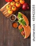 doner kebab   falafel fresh... | Shutterstock . vector #459423355