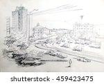 street sketches opening... | Shutterstock . vector #459423475