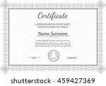 vintage certificate with luxury ... | Shutterstock .eps vector #459427369