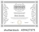 vintage certificate with luxury ... | Shutterstock .eps vector #459427375