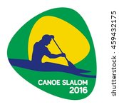 canoe slalom icon  rio icon ... | Shutterstock .eps vector #459432175