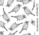 bird black and white pattern | Shutterstock .eps vector #459438175
