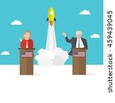 presidential candidate speaks... | Shutterstock .eps vector #459439045