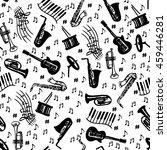 jazz seamless pattern. musical... | Shutterstock .eps vector #459446281