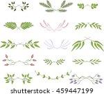 line borders  laurels and text...   Shutterstock .eps vector #459447199