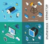 wireless technology isometric...   Shutterstock .eps vector #459447739