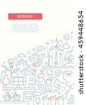 ecology   vector line design... | Shutterstock .eps vector #459448654