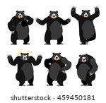 baribal american black bear set....   Shutterstock .eps vector #459450181
