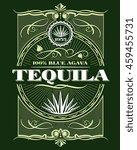vintage alcohol tequila drink... | Shutterstock .eps vector #459455731