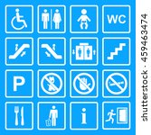 public icon set.service signs... | Shutterstock . vector #459463474