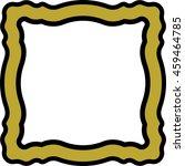 frame border square golden... | Shutterstock .eps vector #459464785