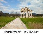 famous tetrapylon gate in... | Shutterstock . vector #459466489