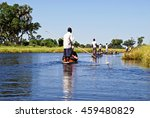 canoe trip with traditional... | Shutterstock . vector #459480829