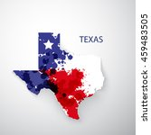 flag texas state icon. texas... | Shutterstock .eps vector #459483505