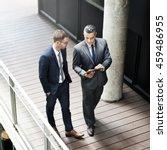 businessman walking discussion...   Shutterstock . vector #459486955