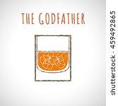 vector illustration of cocktail ...   Shutterstock .eps vector #459492865