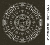 astrology symbols and mystic... | Shutterstock .eps vector #459494371