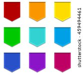 set of nine colorful bright... | Shutterstock .eps vector #459494461