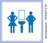 symbols inlet to the toilet ... | Shutterstock .eps vector #459497179