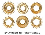 set of gold mandala. circle... | Shutterstock .eps vector #459498517