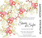 wedding card or invitation with ... | Shutterstock .eps vector #459504499
