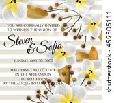 wedding card or invitation with ... | Shutterstock .eps vector #459505111