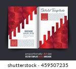 red colors bi fold brochure... | Shutterstock .eps vector #459507235