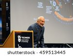 Small photo of HAIFA, ISRAEL JULY 26: Astronaut Dr. Edward (Buzz) Aldrin staring the audience during his a talk during the Space Studies Program 2016 (SSP16) hosted by the Technion, Haifa, Israel, July 26, 2016