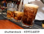 cola pour at a bar | Shutterstock . vector #459516859