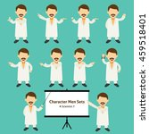 sets of scientist character... | Shutterstock .eps vector #459518401