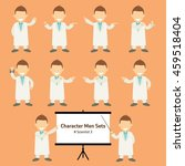 sets of scientist character... | Shutterstock .eps vector #459518404
